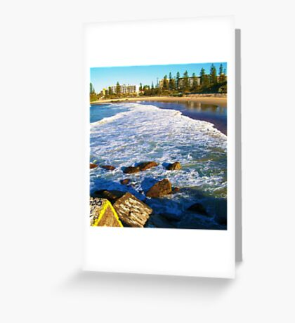 Port Macquarie Lookout over the sea. Greeting Card