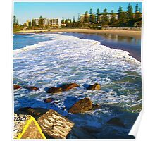 Port Macquarie Lookout over the sea. Poster