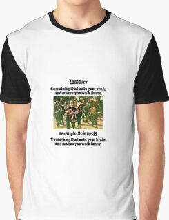 Zombies vs MS Graphic T-Shirt