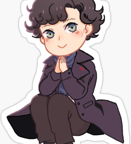 Chibi Sherlock Sticker