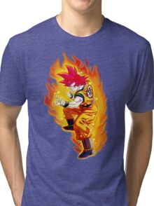 Goku Super Saiyan God Tri-blend T-Shirt