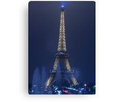 Paris   Blue Eiffel Tower Canvas Print