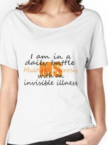MS Daily Battle with Invisible Illness Women's Relaxed Fit T-Shirt