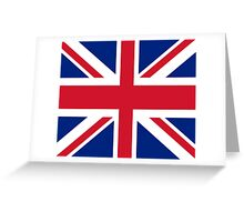 Union Jack 1960s Mini Skirt - Best of British Flag Greeting Card