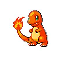 Pokemon - Charmander Sprite Photographic Print