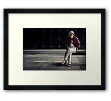Solo in Red Framed Print