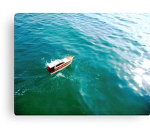 Remote boat Canvas Print