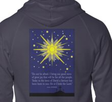 staryy sky & crosses (luke 2:10-11) Zipped Hoodie