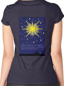 stars & crosses (luke2:14) Women's Fitted Scoop T-Shirt