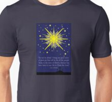 starry sky & crosses (luke 2:10-11)  front Unisex T-Shirt