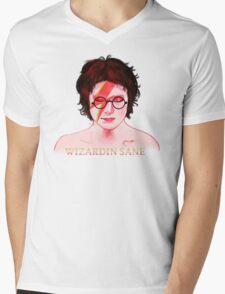Wizardin Sane Mens V-Neck T-Shirt