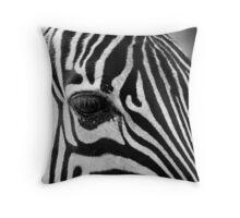 Zebra Eye Detail Throw Pillow