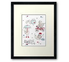Everyday Cat Life Framed Print