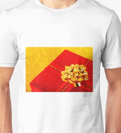Red Christmas Gift Box Unisex T-Shirt