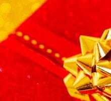 Red Christmas Gift Box Sticker