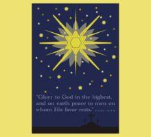 stars & crosses (luke2:14)  front Kids Tee