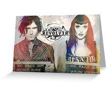 Revolver Kick Banner  Greeting Card