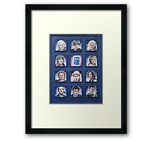 Eleven Doctors and the TARDIS: 50th Anniversary Framed Print