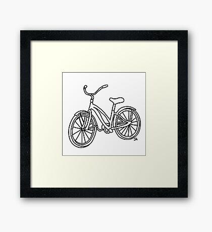 Beach Cruiser Bicycle  Framed Print