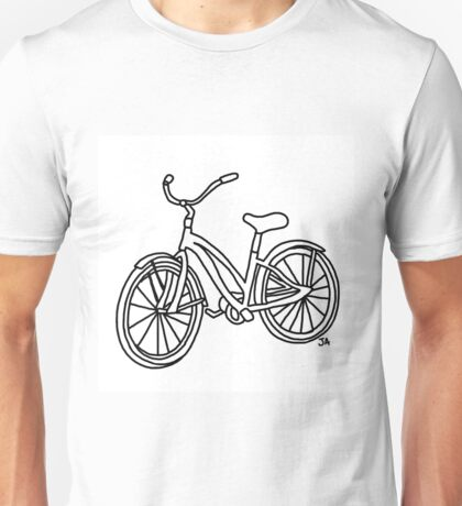 Beach Cruiser Bicycle  Unisex T-Shirt