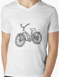 Beach Cruiser Bicycle  Mens V-Neck T-Shirt