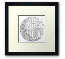 Midnight Memories Moon- Gray  Framed Print