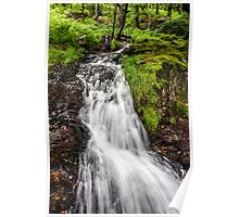 Snowdonia Waterfall Poster