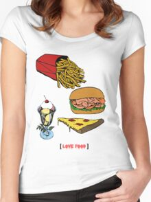 Love Food Women's Fitted Scoop T-Shirt