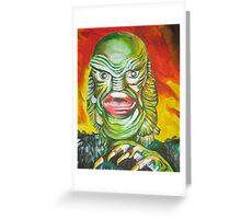 gill-man Greeting Card