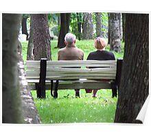 Ponderings in the Park Poster