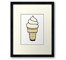 Vanilla Ice Cream Cone Framed Print