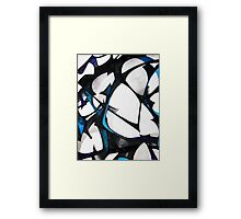 Shadows of flowers Framed Print
