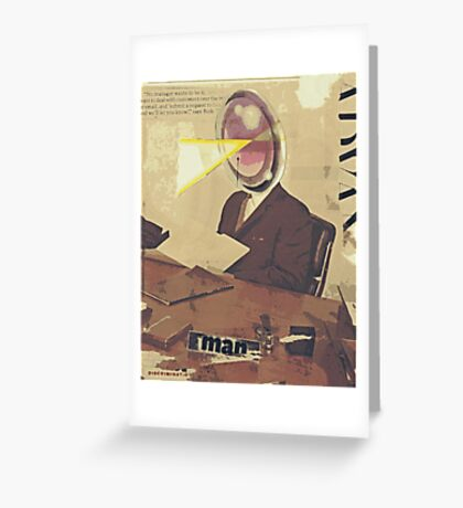 a paper man Greeting Card