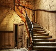 Decaying staircase in an abandoned central office by Pierre BRUMDER