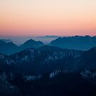 Sunset from Piz Boe by peterwey