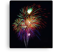 Fireworks Across the Bay Canvas Print