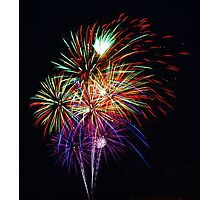 Fireworks Across the Bay Photographic Print