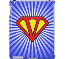 V letter in Superman style iPad Case/Skin