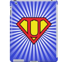 U letter in Superman style iPad Case/Skin