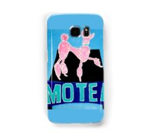 The Pink Poodle Motel Sign [oil ,acrylic,texture paint, painting] Samsung Galaxy Case/Skin