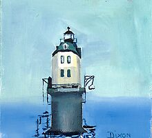 Point No Point Lighthouse in the Potomac River by Phyllis Dixon