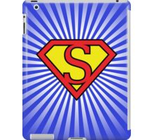 S letter in Superman style iPad Case/Skin