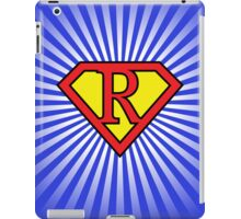 R letter in Superman style iPad Case/Skin