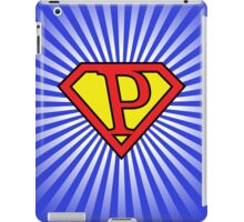 P letter in Superman style iPad Case/Skin