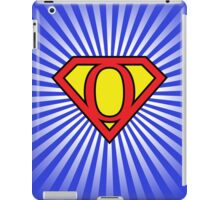 O letter in Superman style iPad Case/Skin