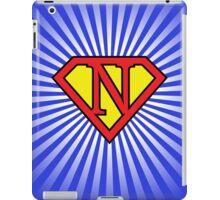 N letter in Superman style iPad Case/Skin
