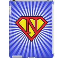 N letter in Superman style iPad Case/Skin