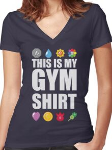 Kanto Gym Shirt Women's Fitted V-Neck T-Shirt