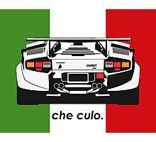 Che Culo - Lamborghini Countach Photographic Print