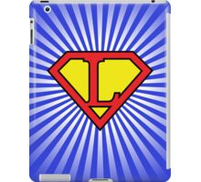 L letter in Superman style iPad Case/Skin
